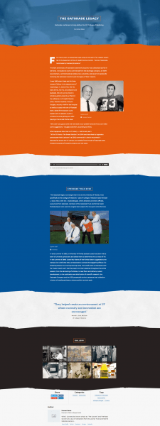 An article with UF branding