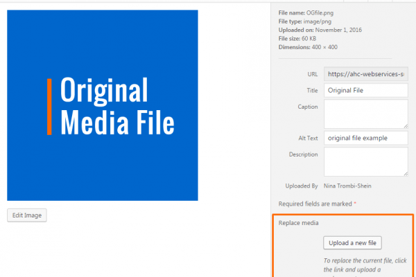 media file