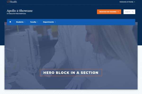 hero block no section